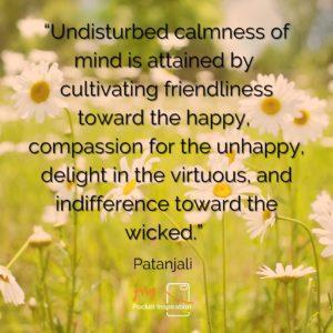 Cultivate a Calmness
