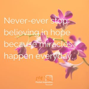 Don't believe in miracles – Rely on them