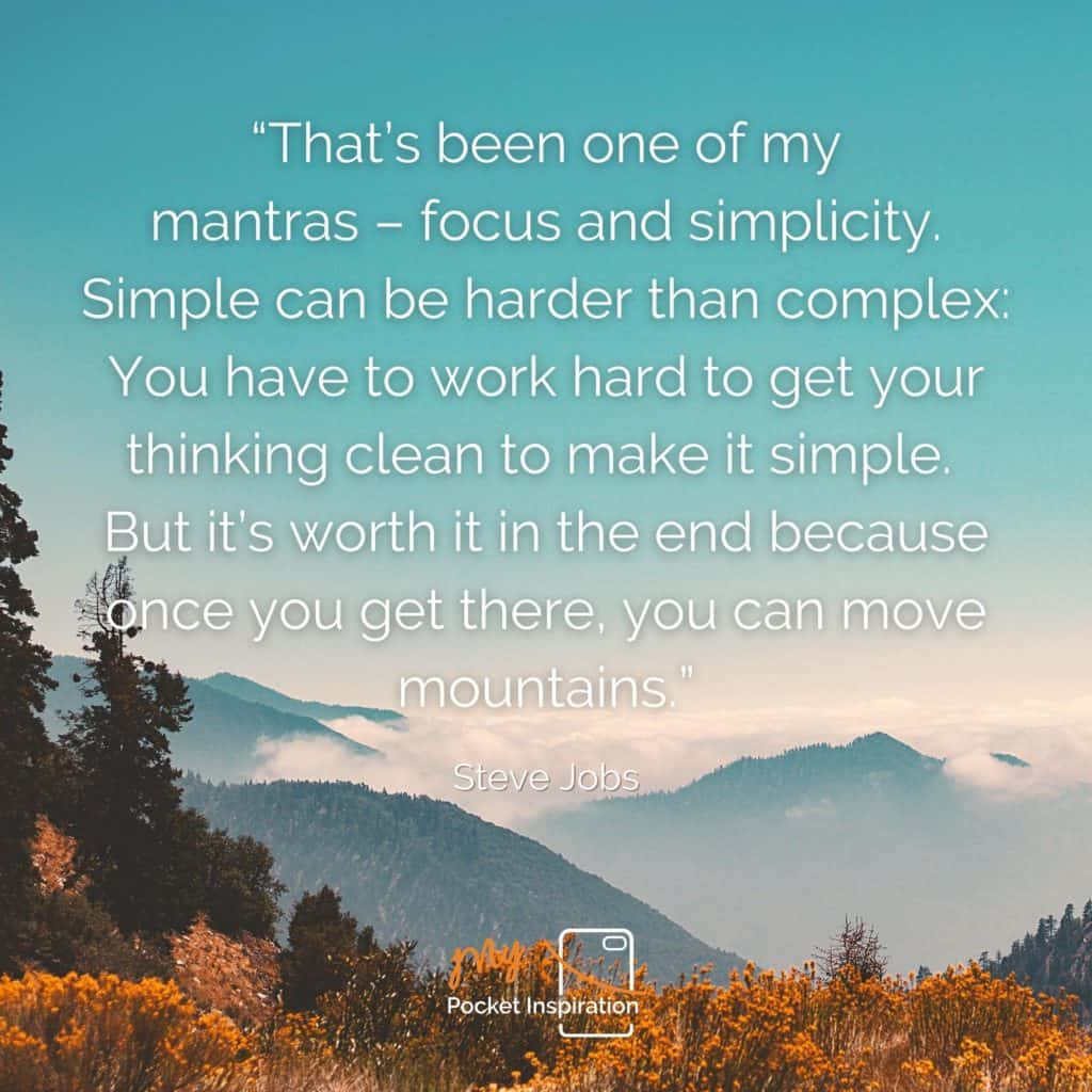 Move mountains with mindful thinking!